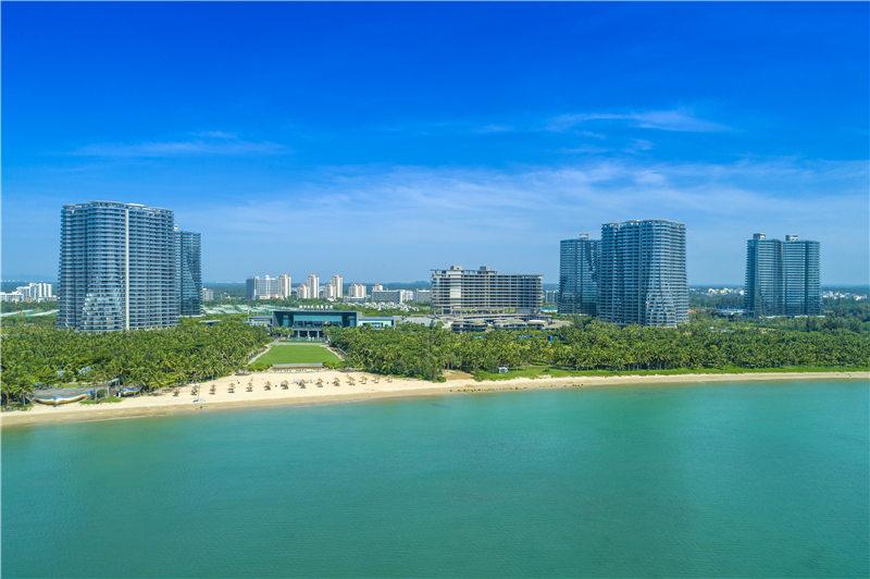 融创金成博鳌金湾沙滩实景图